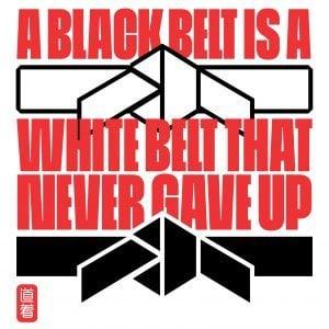 White and Black belt